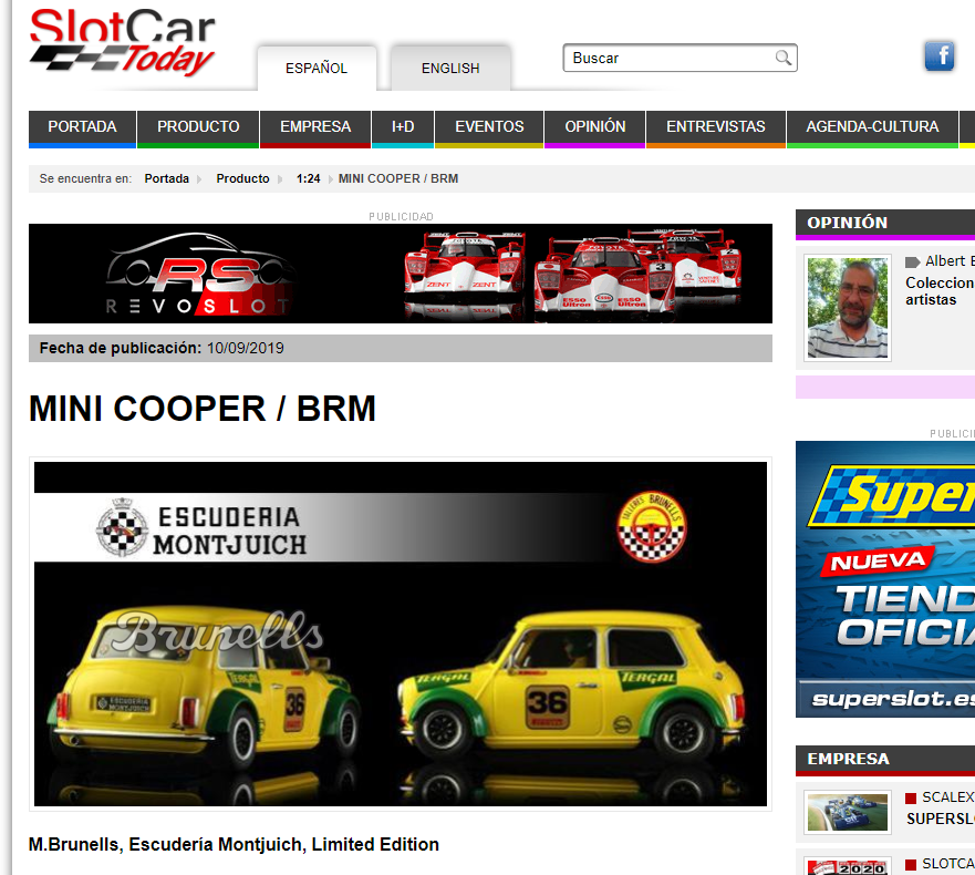 Slotcar Today Mini Cooper BRM
